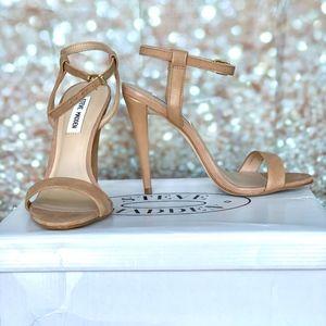 Steve Madden Carmelina Tan strap Heels- New in box